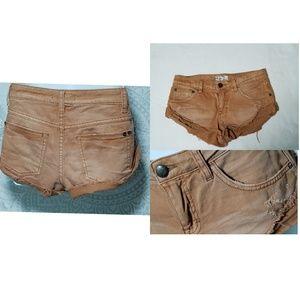 Free People Distressed Cutoff Jean Shorts 24